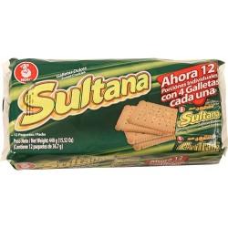 Galleta Sultana Noel 12 Paq 440 Gr