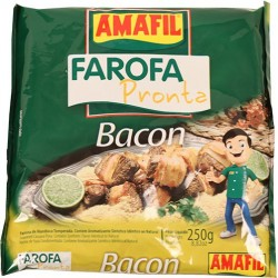Farofa Pronta Bacon Amafil 250 Gr