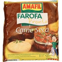 Farofa Pronta Carne Seca Amafil 250 Gr