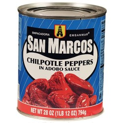 Chipotle Peppers in Adobo Sauce San Marcos 28 Ounces