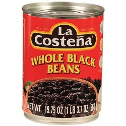 Whole Black Beans La Costeña 19.75 Ounces