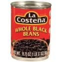 Whole Black Beans La Costeña 19.75 Ounces