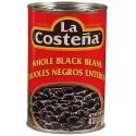 Whole Black Beans La Costeña 40 Ounces