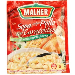 Chicken Flavor and Macaroni Shell Soup Mix Malher 2.1 Ounces