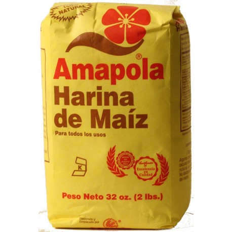 Amapola Harina De Maiz 32 Onzas