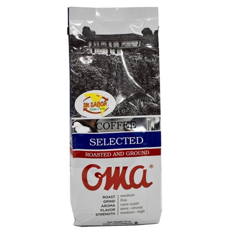OMA Cafe Selected Roasted and Ground Coffee  340g