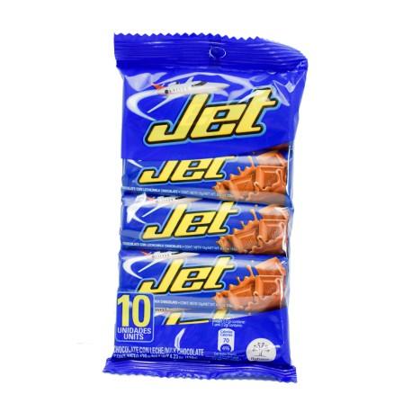 JET  Chocolate con Leche 10 Unid.