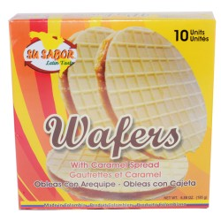 Obleas con Arequipe (Wafers) 10 Unidades