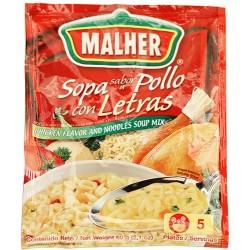 Sopa De Pollo Con Letras Malher 60 Gramos